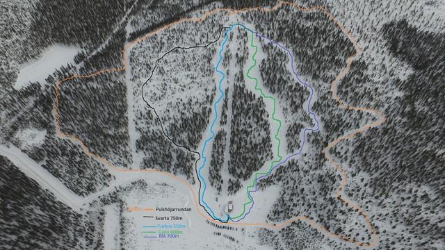 Karta Sverige Pajala.Sattajarvi Slalombacke Pajala Norrbotten Skidort Sverige