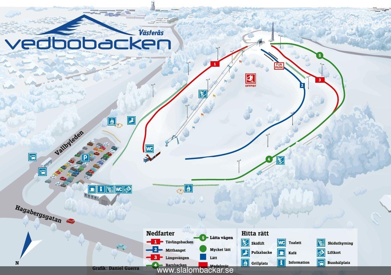 Vedbobacken Slalombacke Västerås Västmanland Skidort Sverige 523c2259d9c84
